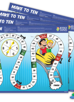 Make to Ten Rollercoaster (Set of 4) – EDUGames