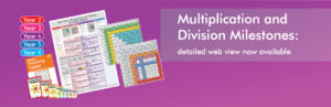 Multiplication and Division Milestones detailed view