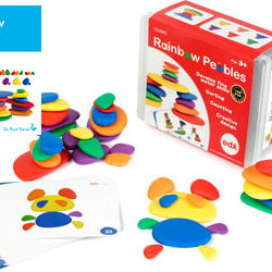 Rainbow Pebbles (Set of 36 and Activity Cards)
