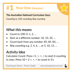 Curriculum Guide for Parents - Year 1