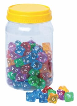 10-Sided Polyhedral Dice – 100 PC