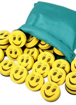 Magnetic Mini Smiley Erasers – Pack of 30