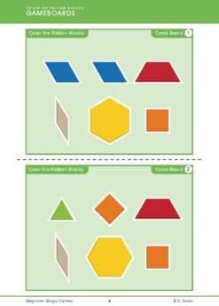 Beginner Bingo – Pattern Blocks (Download)