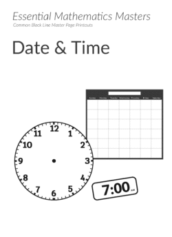 Essential Mathematics Master Pages – Time Printables (Download)