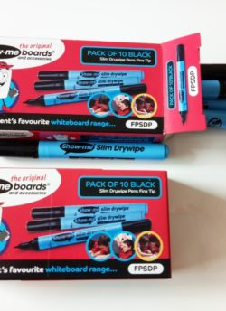 Show-Me Whiteboard Marker Pens (10 per pack) – Black