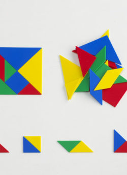 Plastic Tangrams (4 pack | soft & quiet)